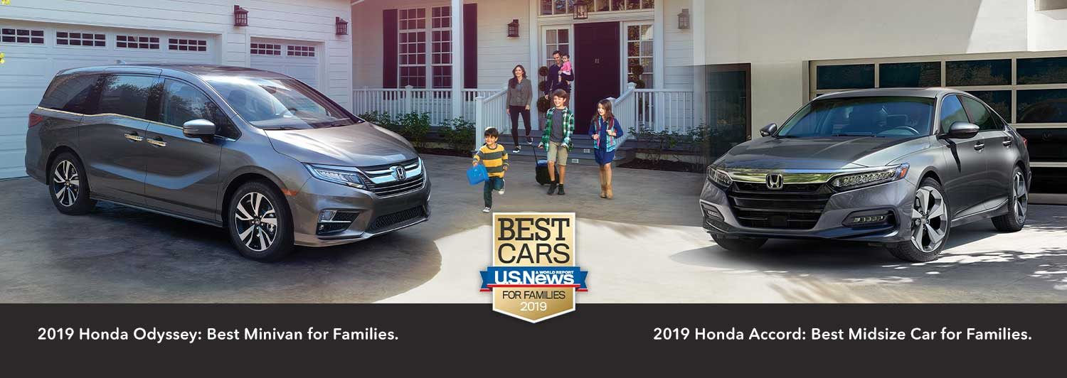 Honda Odyssey and Honda Accord named Best Cars* for Families
